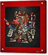 Quetzalcoatl In Human Warrior Form - Codex Borgia Acrylic Print by Serge Averbukh