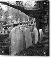 Quiet Cemetery Acrylic Print by Jennifer Ancker