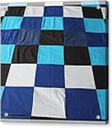 Quilt Blue Blocks Acrylic Print by Barbara Griffin