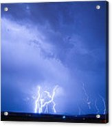 Rabbit Mountain Lightning Strikes Boulder County Co Acrylic Print by James BO  Insogna