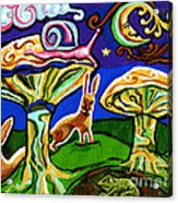 Rabbits At Night Acrylic Print by Genevieve Esson
