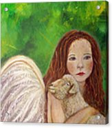 Rachelle Little Lamb The Return To Innocence Acrylic Print by The Art With A Heart By Charlotte Phillips