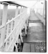 Railings Acrylic Print by Anne Gilbert