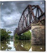 Railroad Bridge Acrylic Print by James Barber