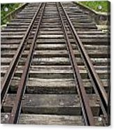 Railroad Tracks Acrylic Print by Sami Sarkis
