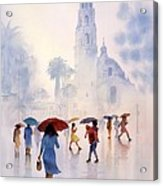 Rain Drops Acrylic Print by John YATO