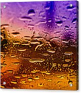 Rain On Windshield Acrylic Print by J Riley Johnson