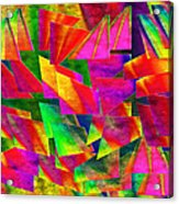 Rainbow Bliss 2 - Twisted - Painterly H Acrylic Print by Andee Design