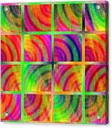 Rainbow Bliss 3 - Over The Rainbow H Acrylic Print by Andee Design