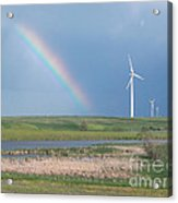 Rainbow Delight Acrylic Print by Angela Pelfrey