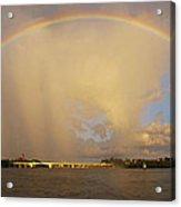Rainbow Jupiter Inlet Acrylic Print by Bruce Bain