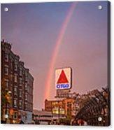 Rainbow Over Fenway Acrylic Print by Paul Treseler