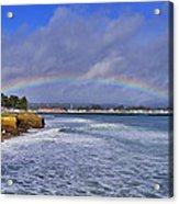 Rainbow Over Santa Cruz Acrylic Print by Randy Straka