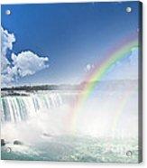 Rainbows At Niagara Falls Acrylic Print by Elena Elisseeva