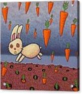 Raining Carrots Acrylic Print by James W Johnson