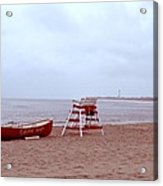 Rainy Day In Cape May Acrylic Print by Bill Cannon