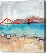 Rainy Day In San Francisco  Acrylic Print by Linda Woods