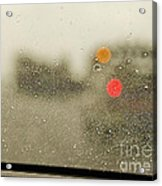 Rainy Day Perspective Acrylic Print by MaryJane Armstrong