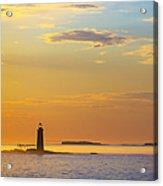 Ram Island Lighthouse Casco Bay Maine Acrylic Print by Diane Diederich