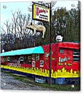 Randy's Roadside Bar-b-que Acrylic Print by MJ Olsen