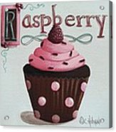 Raspberry Chocolate Cupcake Acrylic Print by Catherine Holman
