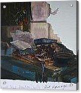 Rat Damage Acrylic Print by Terry Perham