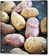 Raw Potatoes Acrylic Print by Elena Elisseeva