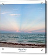 Rays Of Hope Acrylic Print by Michelle Wiarda