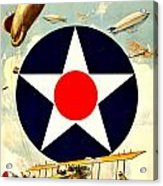 Recruiting Poster - Ww1 - Air Service Acrylic Print by Benjamin Yeager