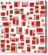 Red Abstract Rectangles Acrylic Print by Frank Tschakert