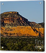 Red And Green Plateau New Mexico Acrylic Print by Deborah Smolinske
