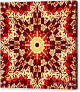 Red And White Patchwork Art Acrylic Print by Barbara Griffin