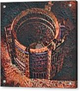 Red Arena Acrylic Print by Mark Howard Jones