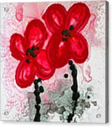 Red Asian Poppies Acrylic Print by Sharon Cummings