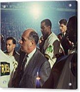 Red Auerbach Boston Celtics Legend Acrylic Print by Retro Images Archive
