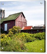 Red Barn In Groton Acrylic Print by Gary Heller