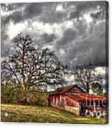 Red Barn On The Boswell Farm Acrylic Print by Reid Callaway