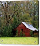 Red Barn Acrylic Print by Steven Richardson