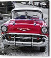 Red Belair At The Beach Standard 11x14 Acrylic Print by Edward Fielding