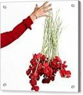 Red Bouquet Acrylic Print by Bernard Jaubert