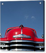 Red Chevrolet 3100 1953 Pickup  Acrylic Print by Tim Gainey