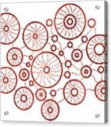 Red Circles Acrylic Print by Frank Tschakert