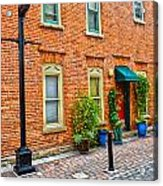 Red Door 3 Acrylic Print by Baywest Imaging
