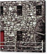 Red Door Acrylic Print by Jayne Carney