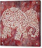 Red Elephant Acrylic Print by Jennifer Kelly