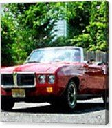 Red Firebird Convertible Acrylic Print by Susan Savad