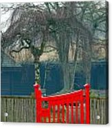 Red Gate Acrylic Print by Susan Tinsley