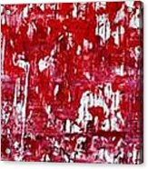 Red Grey White And Black Acrylic Print by Martina Niederhauser