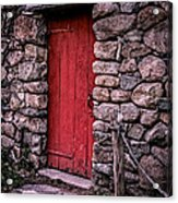 Red Grist Mill Door Acrylic Print by Edward Fielding