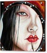 Red Acrylic Print by Hiroko Sakai